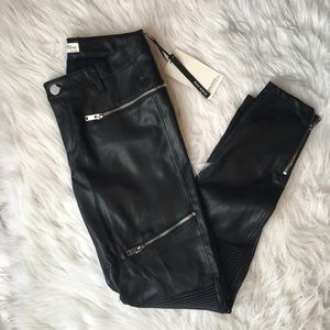 Zara Pants - Zara Black Faux Leather Moto Skinny Pants 🔥 NWT❗️